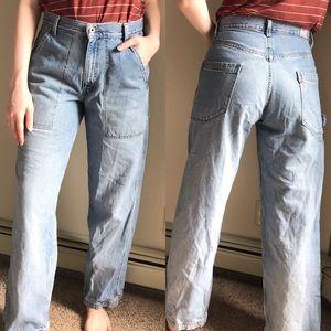 Levi's   Vintage Cargo Style High Waist Mom Jeans